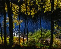 Autumn color harmony. Illustrations,water,autumn landscape royalty free stock photography