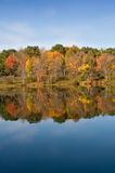 Autumn Color Leaves on Lake Stock Image