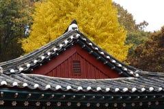 Autumn color at Namsangol folk village, Seoul, South Korea - NOVEMBER 2013 Royalty Free Stock Image