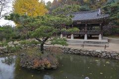 Autumn color at Namsangol folk village, Seoul, South Korea - NOVEMBER 2013 Royalty Free Stock Photography