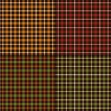 Autumn color plaids. Background patterns royalty free illustration