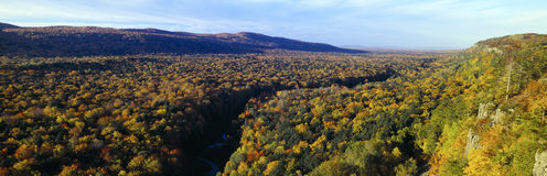 Autumn color at Porcupine State Park Royalty Free Stock Photo