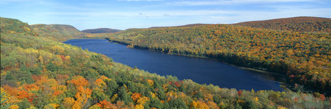 Autumn color at Porcupine State Park, Stock Image