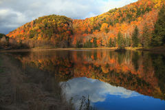 Autumn Color Reflections. Autumn fall foliage in Vermont Royalty Free Stock Photos