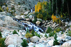 Autumn waterfall in colorado Stock Photo