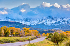 Autumn in Colorado. Fall in Colorado Mountains near Ourey Stock Image