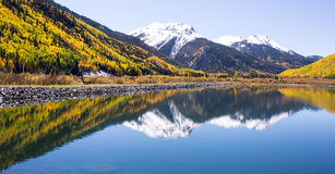 Autumn in Colorado. Fall in Colorado Mountains near Ourey Royalty Free Stock Image