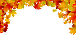 Autumn colored leaves framing. EPS 8 Stock Photos