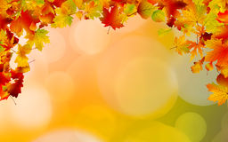 Autumn colored leaves framing. EPS 8 Stock Photo