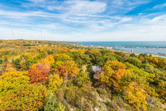 Autumn colored scene. Near harbor of Lake Superior Royalty Free Stock Images