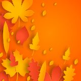 Autumn colorful background with leaves. Royalty Free Stock Image
