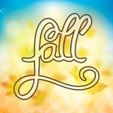 Autumn colorful background typographic illustration Stock Photo