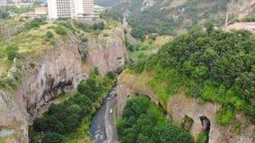 Jermuk Gorge, Armenia stock video footage