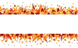Autumn. Colorful leaf isolated on white background. Design poster, invitation, card. Vector illustration royalty free illustration