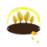 Autumn colorful logo with trees Stock Image