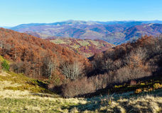 Autumn colorful  mountain slopes. Royalty Free Stock Photography
