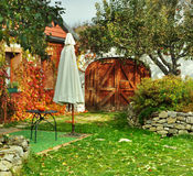 Autumn colorful rustic garden Stock Images