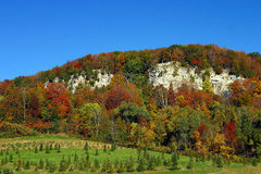 Autumn Colors. Changing colors on the Niagara Escarpment near Milton, ON Stock Photography