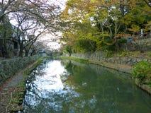 Omihachiman Moat In Fall, Shiga, Japan Stock Photos