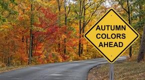 Autumn Colors Ahead Royalty Free Stock Photos