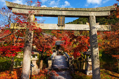 Autumn Colors At Eikando Temple, Kyoto Royalty Free Stock Photography