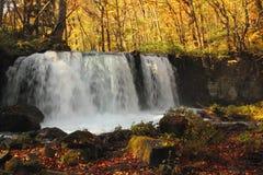 Autumn Colors av den Oirase floden Arkivbilder