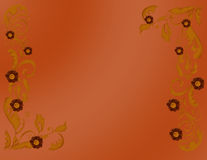 Autumn Colors Background. Abstract background with decorative flowers theme in autumn colors Royalty Free Illustration