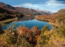 Autumn Colors in Bariloche, Patagonië, Arge Royalty-vrije Stock Foto's