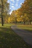 Autumn colors in Blue Lake park Oregon. Stock Images