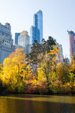 Autumn colors of Central park in New York Royalty Free Stock Photography