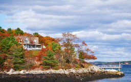 Autumn colors on the coast Stock Photography
