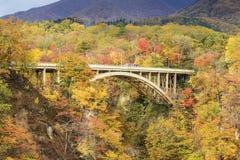 Autumn Colors de la Naruko-garganta en Japón Fotografía de archivo libre de regalías