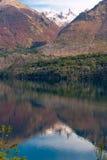 Autumn Colors en el lago Gutiérrez, Patagonia Fotografía de archivo