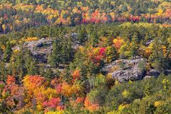 Autumn Colors en la montaña de Sugarloaf en Marquette Michigan fotografía de archivo