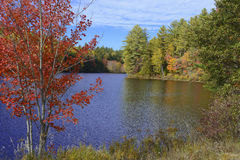 Autumn colors - fall leaves in the Adirondacks, New York Stock Photos
