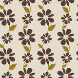 Autumn colors with flowers seamless pattern background illustration Royalty Free Stock Photography