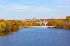 Autumn colors in Georgetown, Washington DC. Stock Image
