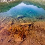Autumn Colors Gradient Mountain Lake imagens de stock royalty free