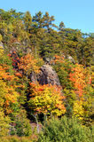 Autumn Surrounds Cliff Mine Royalty Free Stock Photography