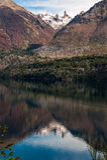 Autumn Colors i sjön Gutierrez Arkivfoton
