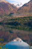 Autumn Colors i sjön Gutierrez, Patagonia Arkivbild