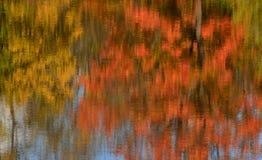 Impressionistic reflection of autumn trees in pond. Autumn colors: impressionistic reflection of trees in pond. Viljandi, Estonia Stock Photography