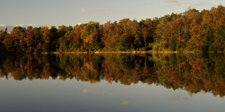 Autumn colors, Lake Jean. Autumn colors at Lake Jean, Rickets Glen State Park in Pennsylvania stock photo