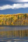 Autumn colors on lake shore, Minnesota, USA Royalty Free Stock Image