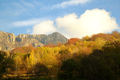 Autumn colors in Lecco mountains. Stock Photography