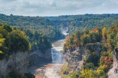 Autumn Colors am Letchworth-Nationalpark in New York stockbild