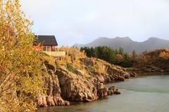 Autumn  colors of Lofoten Stock Photography