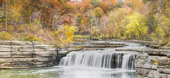Autumn Colors at Lower Cataract Falls Royalty Free Stock Images