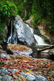 Autumn Colors of Mae Haad waterfall Stock Image