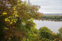 Autumn colors, Mississippi River Stock Image